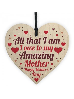 Mother's Day Gift For Mum Thank YOU Gift Wooden Heart Gift Sign