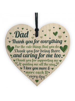 Cute Dad Gift Wooden Heart Birthday Gift For Dad Daughter Son Gi