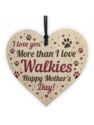 Funny Mother's Day Gift Card Wooden Heart Love Mum Gifts Humour