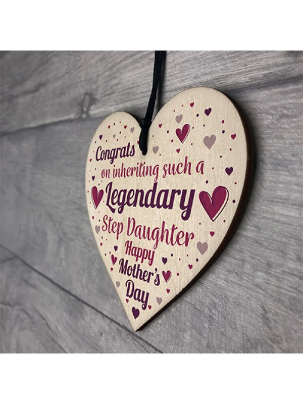 Funny Mother's Day Gift Cards Joke Rude Step Mum Step Daughter