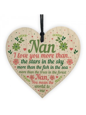 Nan Gifts For Birthday Mother's Day Gift Card Nan Gifts Keepsake