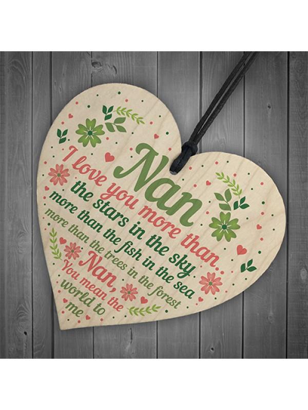 Nan Gifts For Birthday Mother's Day Gift Card Nan Gifts Keepsake