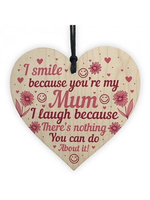 Funny Mum Gift Wooden Heart Mothers Day Gift Mum Birthday Gift
