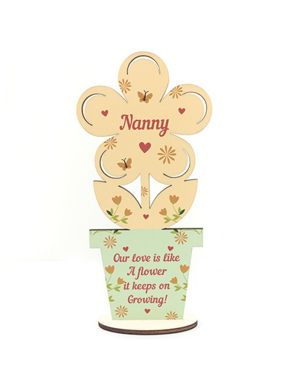 Nanny Gift Wooden Flower For Birthday Her