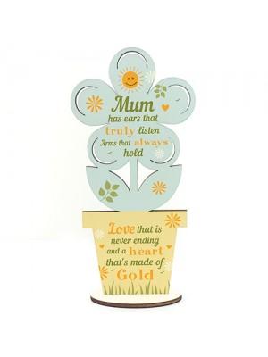 Mum Birthday Gift Wooden Flower Mothers Day Gift For Mum Gift