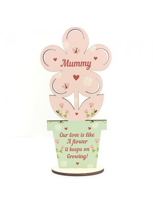 Mothers Day Gift For Mummy Wood Flower Mum Gift From Daughter