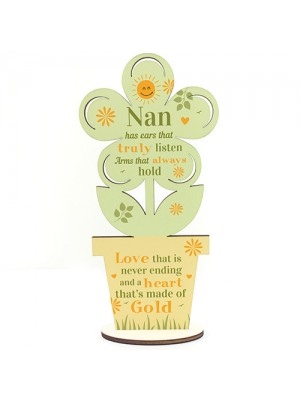 Nan Gifts Wooden Flower Nan Birthday Gifts From Grandchildren