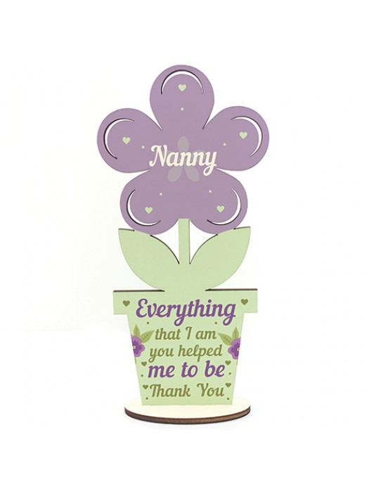 Nanny Gifts Wooden Flower Thank You Gift For Nanny Gift LOVE