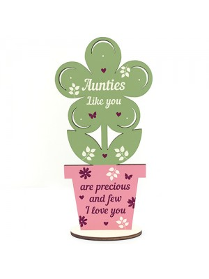 Auntie Gifts Wooden Standing Flower Auntie Birthday Gift Sister