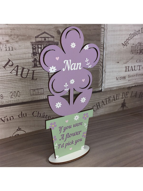 Nan Gifts Nan Birthday Gifts Wood Flower Mothers Day Gift Sign