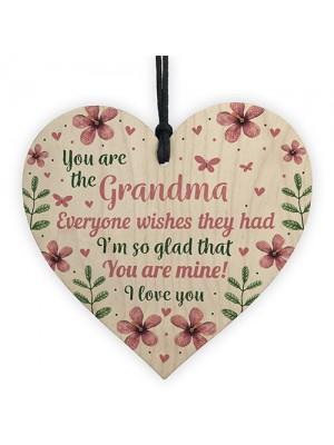 Nan Birthday Gifts Mothers Day Gift Wooden Heart Gran Grandma