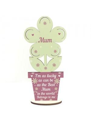 Mum Birthday Christmas Gift Wooden Flower Mother Day Gift LOVE