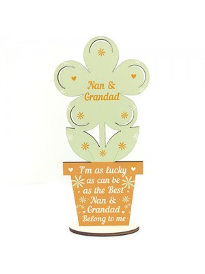Nan And Grandad Birthday Christmas Gifts Wooden Flower Gifts