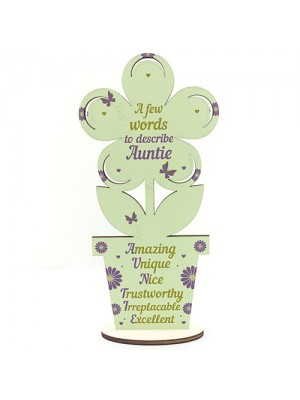 Auntie Gifts Auntie Birthday Gifts Wooden Flower Sister Gifts
