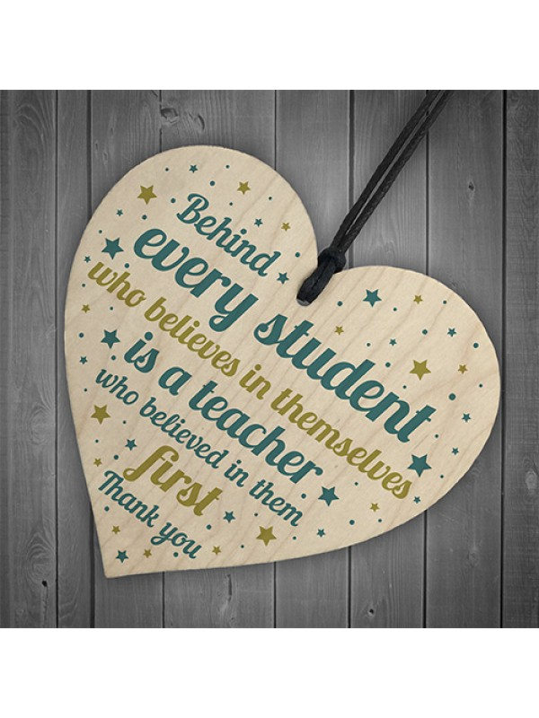 Gift For Teacher And Assistant Wood Heart Plaque Thank You Gifts