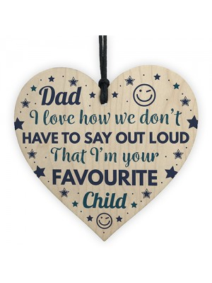 Funny CFathers Day Gifts Novelty Wooden Heart Birthday Gift Dad