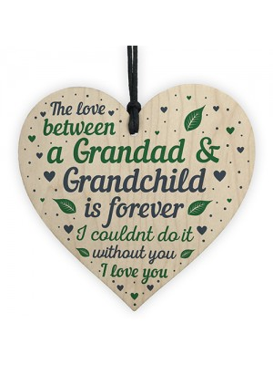 Grandad Birthday Gifts Fathers Day Gift From Granchildren Heart