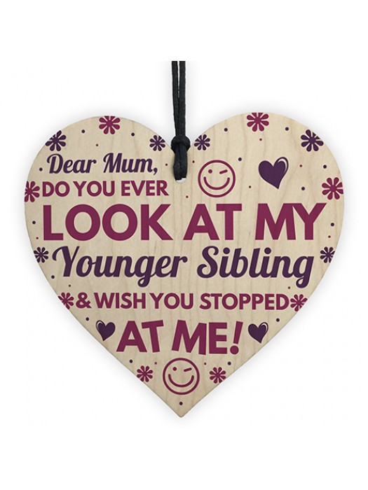 Funny Rude Birthday Gifts For Mum Novelty Wooden Heart Gifts