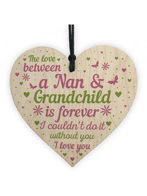 Nan Gifts From Grandchildren Wooden Heart Birthday Gifts For Nan
