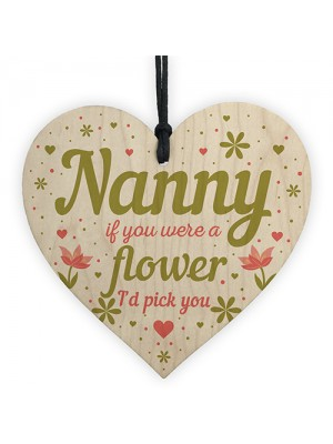 Gifts for Nanny Nan Granny Grandma Wooden Heart Birthday Gifts