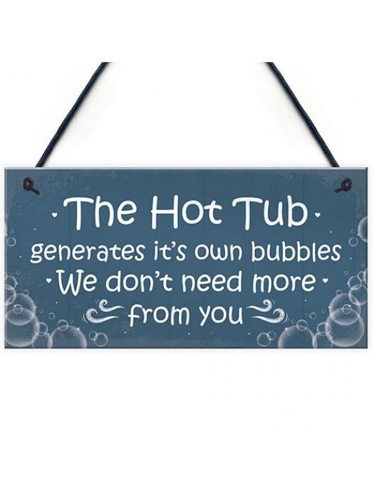 Funny Novelty Hot Tub Sign Garden Plaque Home Decor Sign