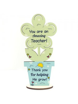 Amazing TEACHER GIFTS Wooden Flower Thank You Gift For Teacher