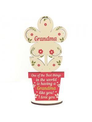 Thank You Gift Wooden Flower Grandma Birthday Christmas Gift
