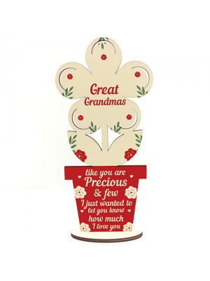 Mothers Day Gift Wooden Flower Great Grandma Birthday Gifts