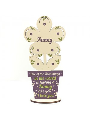 Mothers Day Gift Wooden Heart Nanny Birthday Christmas Gifts