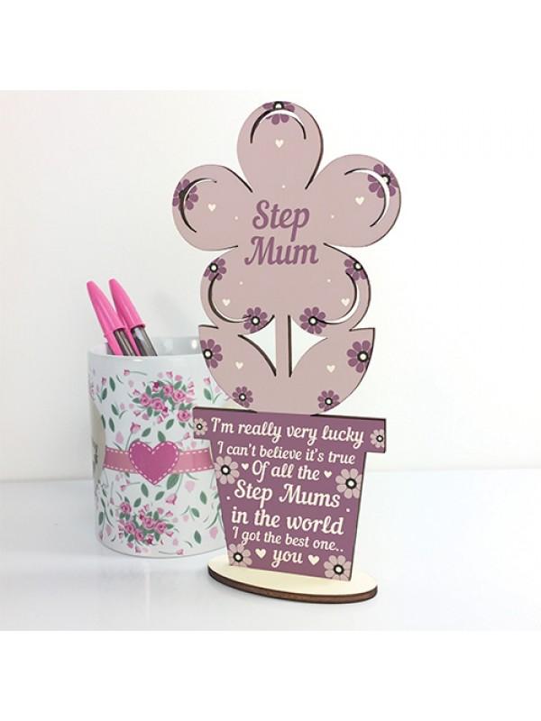 Cute Step Mum Gifts Wooden Step Mum Birthday Christmas Gifts