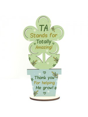 Amazing Teaching Assistant Gifts TA Wood Flower Thank You Gifts