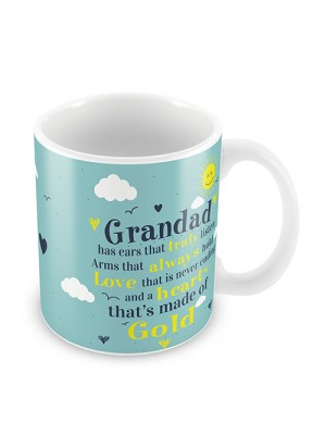 Red Ocean Grandads Heart Of Gold Grandfather Fathers Day Gift
