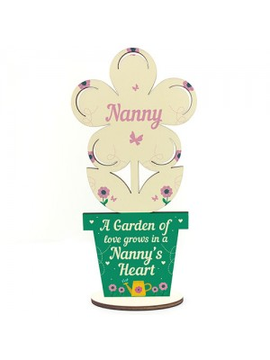 Nanny Gift Wood Flower Nanny Birthday Gift Grandparent Gifts