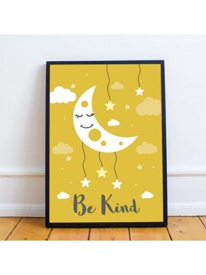 Yellow Framed Nursery Prints / Baby Nursery Room Wall Art Prints