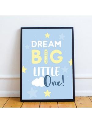 Blue Nursery Framed Prints / Nursery Wall Art Decor For Baby Boy