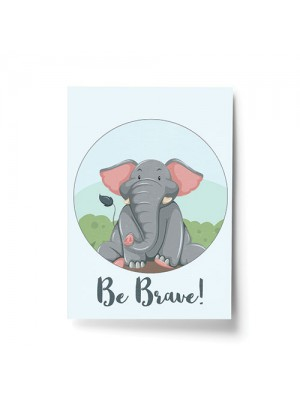Elephant Animal Prints For Nursery / Baby Room Pictures Decor