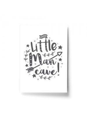 Little Man Cave Cute Nursery Prints Boy Bedroom Wall Art Decor