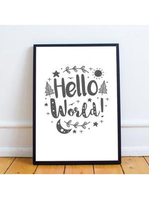 White Grey Nursery Framed Prints / Baby Wall Art Decorations