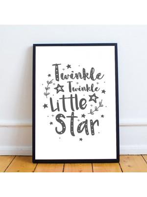 White Grey Nursery Framed Prints / Baby Room Wall Art Decoration