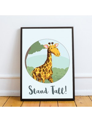 Animal Framed Nursery Prints / Giraffe Wall Art Pictures Nursery