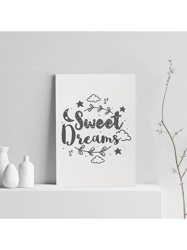 Cute Bedroom Sign Grey Nursery Print For Baby Girl Boy Bedroom