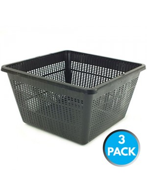 3 x Bermuda Aquatic Baskets Pond Plant Mesh Container Tub 28cm