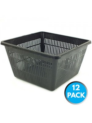 12 x Bermuda Aquatic Baskets Pond Plant Mesh Container Tub 28cm