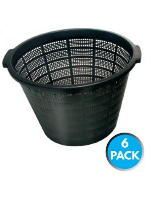 6 x Bermuda Aquatic Baskets Pond Plant Mesh Container Tub 40x28