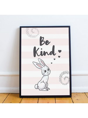 Inspirational Print Be Kind Quote Wall Art Girls Bedroom Decor