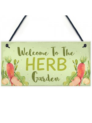 Garden Signs HERB GARDEN Sign Allotment Home Hanging Sign Gifts