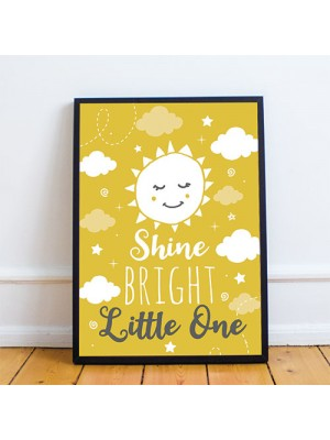 Grey And Yellow Nursery Print Framed Nursery Picture Wall Art