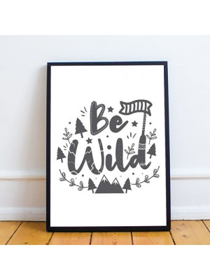 Nursery Decor For Girls Bedroom Boys Bedroom Framed Grey Print