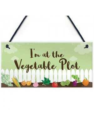 Funny Garden Signs And Plaques Vegetable Plot Sign Home Decor