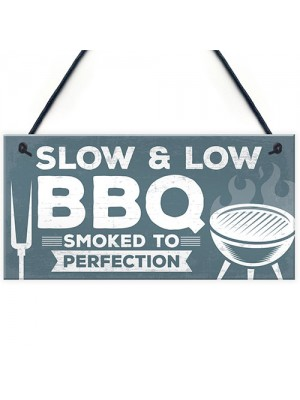 Novelty BBQ Sign For Garden BBQ Area Sign Garden Shed Plaque